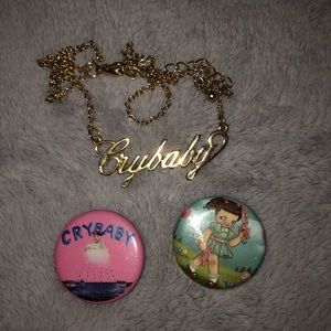 MELANIE MARTINEZ necklace & pins from HOT TOPIC